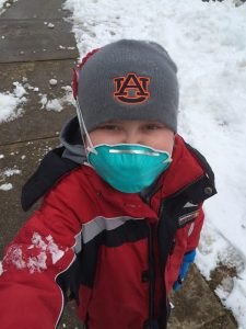 Josh Hardy, 1 year later playing in the snow